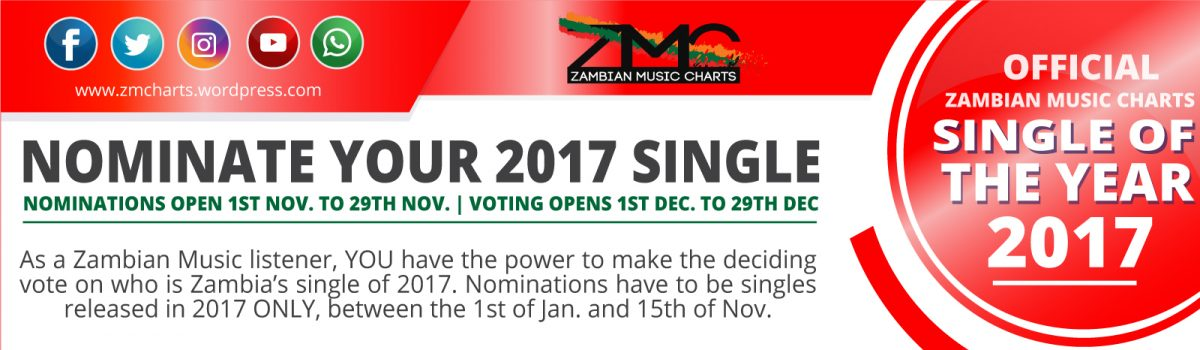 NOMINATE YOUR ZMC 2017 SINGLE OF THE YEAR